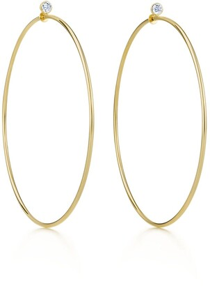 Tiffany & Co. Elsa Peretti Diamond Hoop earrings in 18k gold with diamonds, large