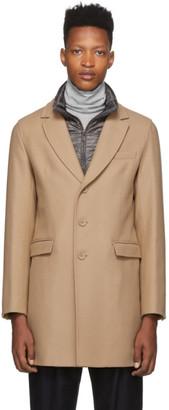 Herno Beige Wool Detachable Gilet Coat