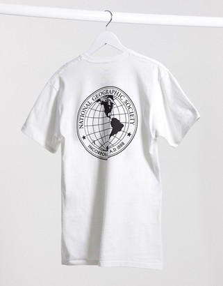 Vans X National Geographic t-shirt in white