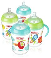 Nuby's Natural TouchTM 270ml Bottles 4 Pack - Boy