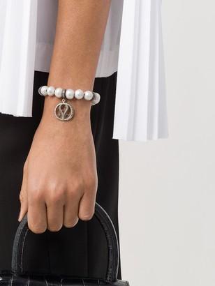 Loree Rodkin Baroque Pearl Charm Diamond Bracelet