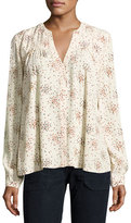 BA&SH Nine Floral-Print Blouse, Ecru