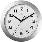 Acctim 74367 Peron Radio Controlled Wall Clock, Silver