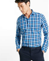 Express Fitted Small Check Dress Shirt