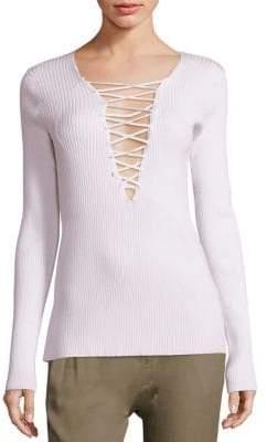 A.L.C. Solana Lace-Up Sweater