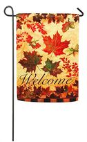 """Evergreen Sublimated Suede Fall Leaves """"Welcome"""" Indoor / Outdoor Garden Flag"""