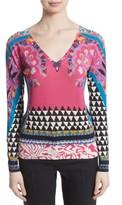 Etro Women's Geo Silk & Cashmere Sweater