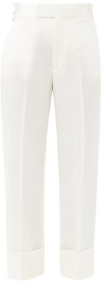 Vivienne Westwood - Dave Shadow Virgin-wool Cady Trousers - White