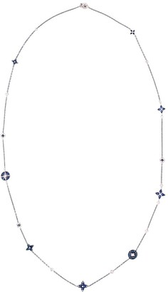MARIANI 18kt white gold diamond sapphire Lucilla necklace