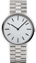 Uniform Wares Men's M37 Polished Steel Brushed Lined Bracelet Wristwatch Silver