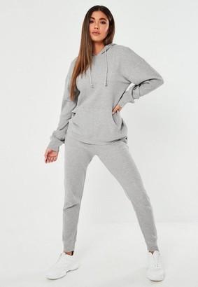 Missguided Gray Waffle Texture Loungewear Set
