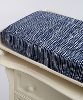 Navy Abstract Lines Minky Changing Pad Cover