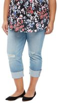 Plus Size Highline Cuffed Maternity Crop Jeans