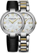 Raymond Weil Shine Mother-Of-Pearl and Diamond Watch with Interchangeable Straps, 32mm