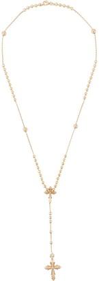 Emanuele Bicocchi Rosary Style Cross Necklace