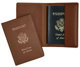 Royce Handcrafted RFID Blocking Passport Travel Organizer