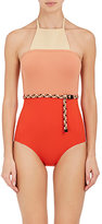 Eres Women's Roy Belted One-Piece Halter Swimsuit-RED