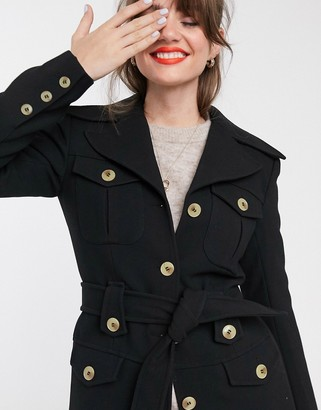 And other stories & structured belted jacket in black
