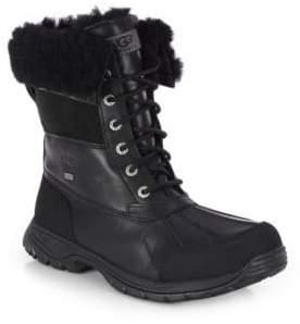 UGG Men's Butte Sheepskin Leather Boots - Black - Size 8