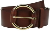 MICHAEL Michael Kors 55mm Veg Leather Panel Belt on Wrapped Buckle Women's Belts