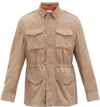 Brunello Cucinelli Suede-leather Field Jacket - Mens - Beige
