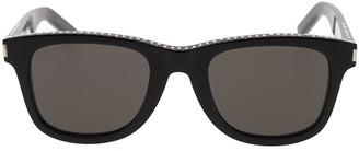 Saint Laurent Unisex Black Rectangle Sunglasses