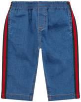 Gucci Side Stripe Denim Sweatpants