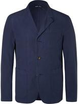 Alex Mill Blue Slim-Fit Unstructured Cotton-Ripstop Blazer