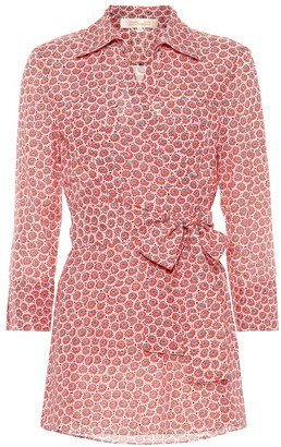 Diane von Furstenberg Printed cotton and silk blouse
