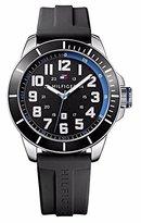 Tommy Hilfiger Men's 1791072 Black Silicone Analog Quartz Watch