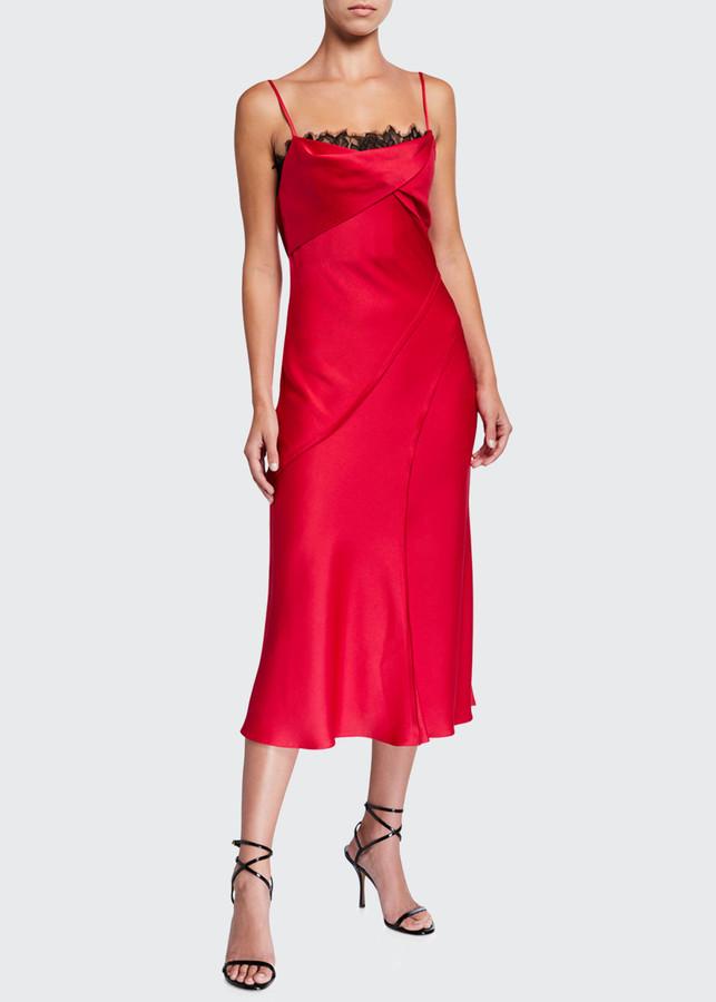 Jason Wu Collection Crepe-Back Satin Slip Dress