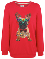 Bulldog George Rudolph French Christmas Sweatshirt