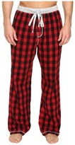 True Grit Vintage Flannel Buffalo Check Flannel Pants with Heather Knit Trim