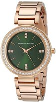 Kenneth Jay Lane Women's KJLANE-2612 Glitz Rose Gold Ion-Plated Watch with Green Dial