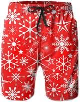 BOWENSS Merry Christmas Snowflake Men's Water Sports Beach Shorts