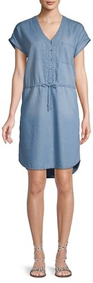 C&C California Dolman-Sleeve Chambray Button-Front Dress