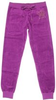 Juicy Couture Black Label Womens Velour Monogram Slim Pant Purple L