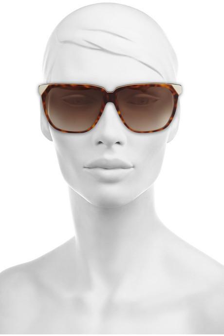 Victoria Beckham Stepped D-frame acetate sunglasses