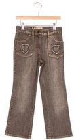 MonnaLisa Girls' Heart Flare Jeans w/ Tags