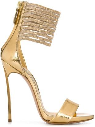Casadei Techno Blade 130 lattice strap sandals