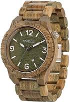 WeWood Men's Alpha ALPHA- Green Wood Analog Quartz Watch with Green Dial