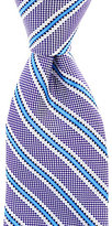 Roundtree & Yorke Trademark Rail Striped Narrow Silk Tie