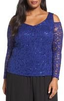 Alex Evenings Plus Size Women's Sequin Lace Top