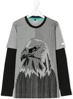Armani Junior teen eagle layered t-shirt