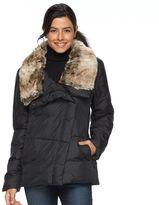 Hemisphere Women's Faux-Fur Collar Down Jacket