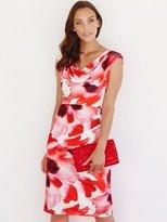 M&Co Floral print cowl neck dress