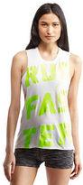 Aeropostale Lld Run Faster Sleeveless Muscle Tee Shirt White