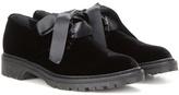 Saint Laurent Velvet Derby Shoes