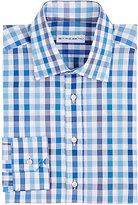 Etro Men's Gingham Dress Shirt-BLUE