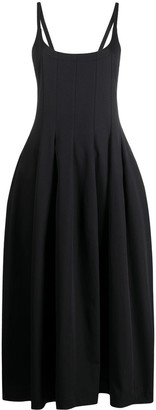 Jil Sander Flared Pleated Midi Dress